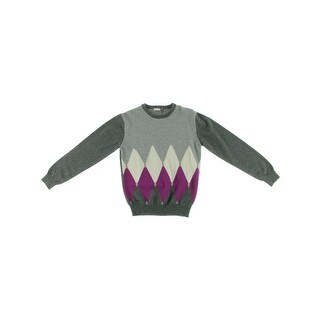 Ballantyne Girls Pullover Sweater Cashmere Argyle