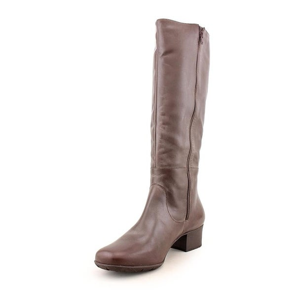 Elites by Walking Cradles Mix Women N/S Round Toe Leather Brown Knee High Boot