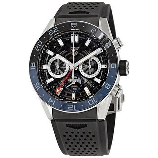 Link to Tag Heuer Men's CBG2A1Z.FT6157 'Carrera ' Chronograph Black Rubber Watch Similar Items in Men's Watches