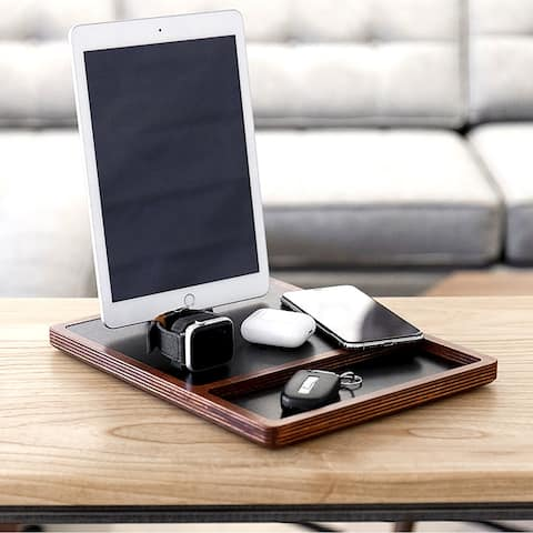 NytStnd QUAD TRAY 5-Coil Wireless Charging Station With Lightning Dock