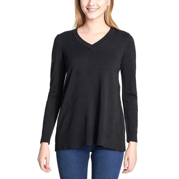 Shop DKNY Jeans Women Super Soft V-Neck Casual Pullover
