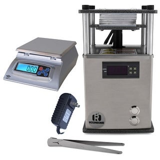 RosinBomb Rocket Rosin Press with My Weigh KD-8000 Kitchen Scale and AC Adapter