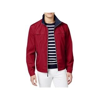 London Fog Mens Basic Jacket Lightweight Packable - S