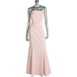 Jill Stuart Womens Crepe Strapless Evening Dress