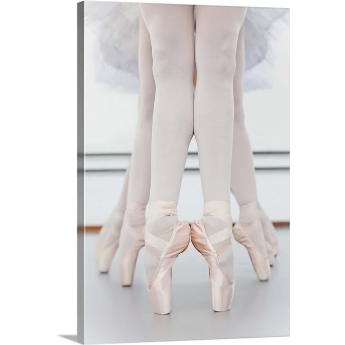 Shop Ballet Dancers Feet On Pointe Canvas Wall Art Overstock 16378047