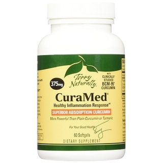 Terry Naturally CuraMed 375 mg - 60 Softgels - Healthy Inflammation Response - Superior Absorption Curcumin - Non-GMO