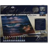 "Acrylic Paint Your Own Masterpiece Kit 11""X14""-Hampton Beach"