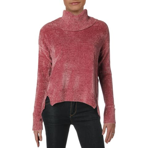 Romeo & Juliet Couture Womens Pullover Sweater Knit Long Sleeves - Vintage Rose - L