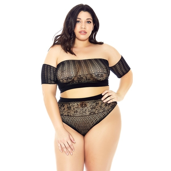 3aba5d39264 Shop Plus Size Fiona Retro Bra Set - Black - One Size Fits Most Queen -  Free Shipping On Orders Over  45 - Overstock - 28085461