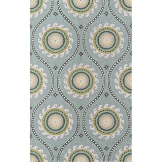 Link to Momeni Suzani Hook Hand Hooked Wool Damask Area Rug Similar Items in Rugs