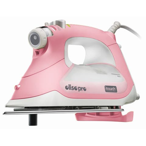 Oliso Pro TG1600 Smart Iron with iTouch Technology, 1800 Watts, Pink
