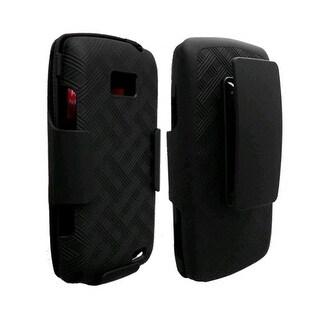 Verizon Rubberized Shell & Holster Combo for LG Ally VS740 - Black