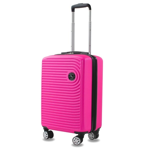 """Spiral 20"""" Carry-On Expandable Spinner Suitcase. Opens flyout."""
