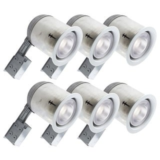 Bazz Lighting 606-R30M6 Set of (6) RF R30 Series Single-Light 7-Inch Recessed Light Fixture - White
