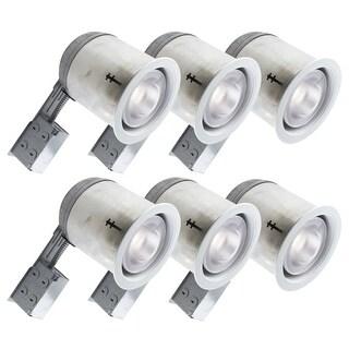 Bazz Lighting 606-R30M6 Set of (6) RF R30 Series Single-Light 7-Inch Recessed Light Fixture - White