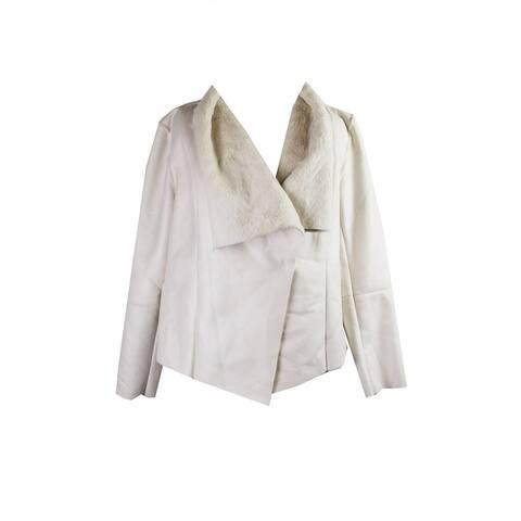 Alfani Vanilla Faux-Shearling Jacket M