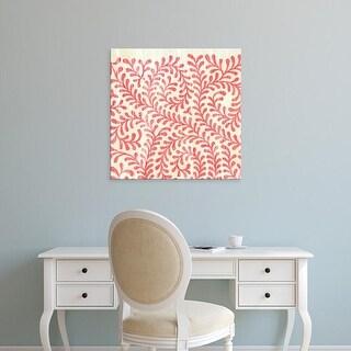Easy Art Prints June Erica Vess's 'Weathered Patterns in Red III' Premium Canvas Art