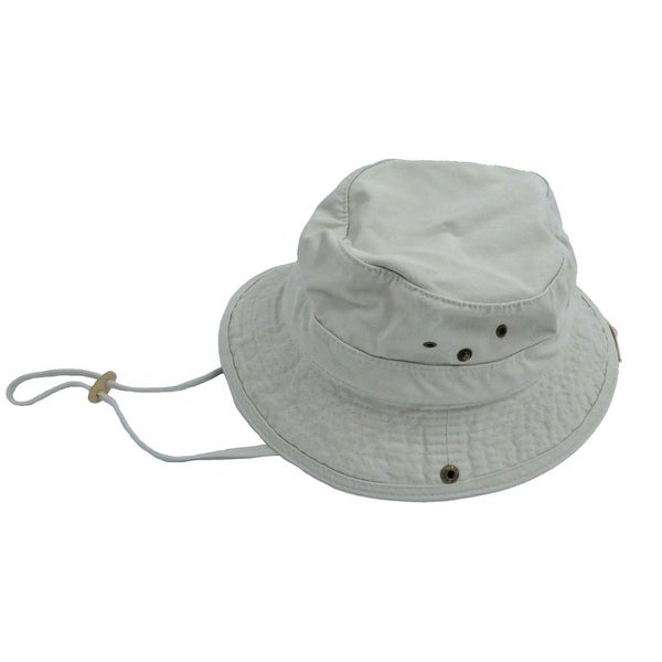 Shop Dorfman Pacific Men s Twill Putty Bucket Hat - Free Shipping On ... 41a95e33bc2a