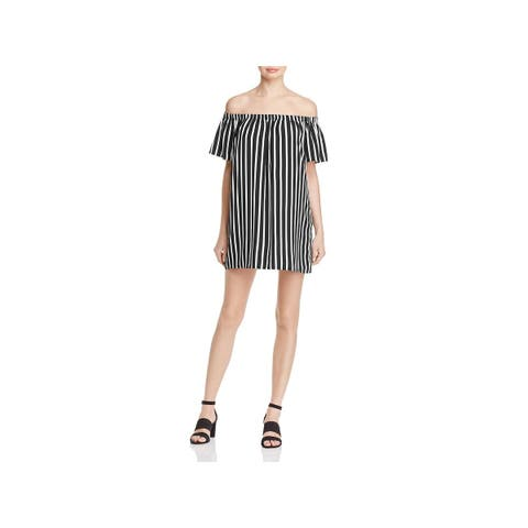 French Connection Womens Blouse Crepe Striped
