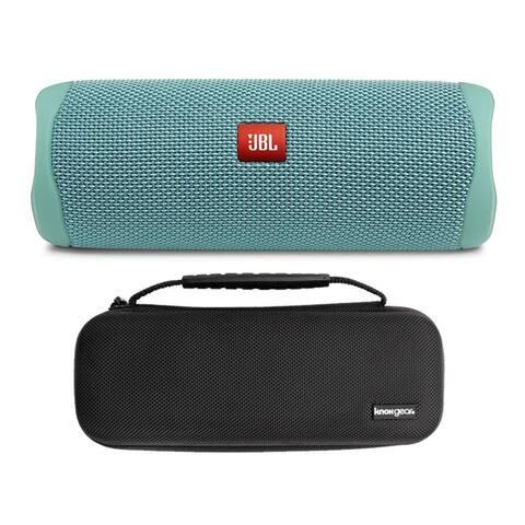 JBL Flip 5 Portable Waterproof Bluetooth Speaker (Teal) Bundle w/ Case