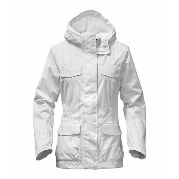 edea1435b The North Face NEW White Women's XXL Hooded Grid Print 4-Pocket Jacket
