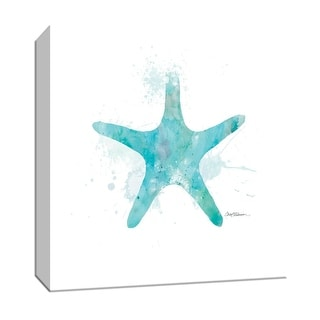 """PTM Images 9-147256  PTM Canvas Collection 12"""" x 12"""" - """"Costal Wash Starfish"""" Giclee Sea Animals Art Print on Canvas"""