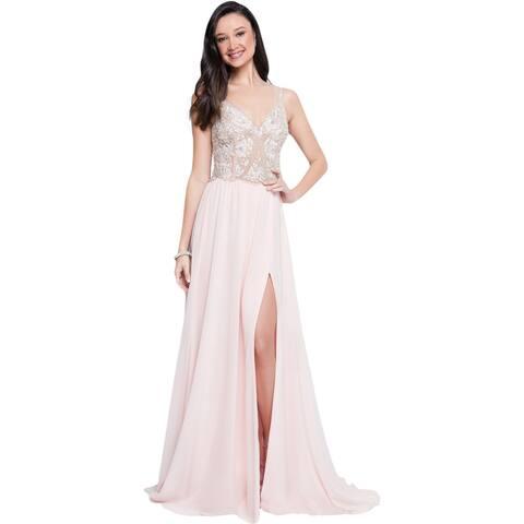 bafcbee8139 Terani Couture Prom Beaded Evening Dress