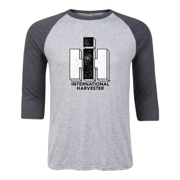 International Harvester Logo >> Ih Logo 2 Color Case Ih International Harvester Adult Raglan Ath Hea Hea Black