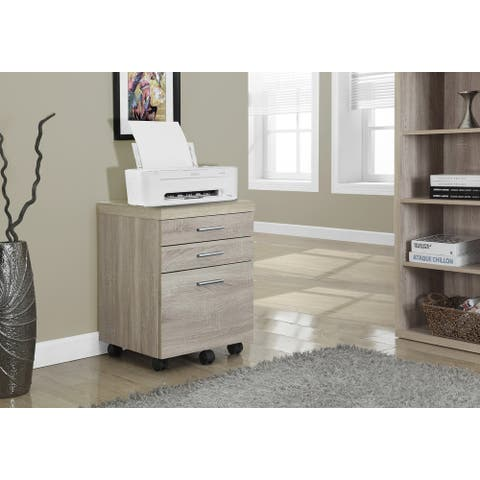 Monarch 7050 Natural On Castors Filing Cabinet With Three Drawer