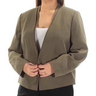 NINE WEST $109 Womens New 1431 Green Blazer Wear To Work Jacket 16W Plus B+B