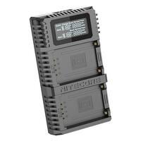 NITECORE FX2 PRO USB Digital Charger Fujifilm NP-T125 Camera Batteries - Black