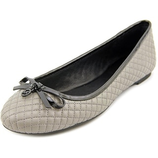 Michael Michael Kors Melody Quilted Ballet Round Toe Leather Ballet Flats