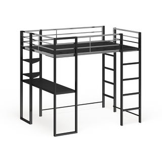 Link to Furniture of America Boor Modern Black Metal Loft Bed with Workstation Similar Items in Kids' & Toddler Furniture