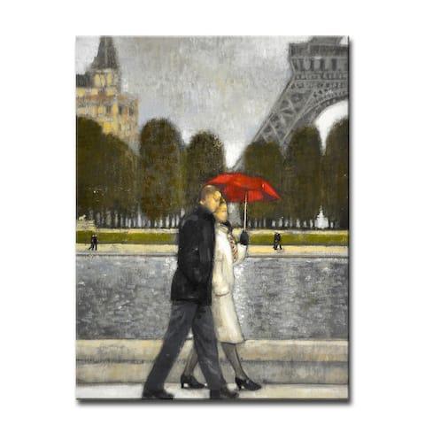 'Romantic Stroll II' Wrapped Canvas Wall Art by Norman Wyatt Jr.
