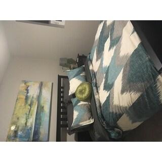 INK+IVY Alpine Aqua Cotton Printed Duvet Cover Mini Set