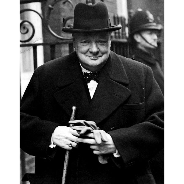 Shop Winston Churchill wearing a trilby Photo Print - Free Shipping On  Orders Over  45 - Overstock.com - 25383498 b02a9bfd7f1