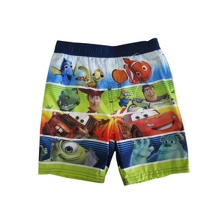 Disney Little Boys Multi Color Cartoon Character Themed Swimwear Shorts