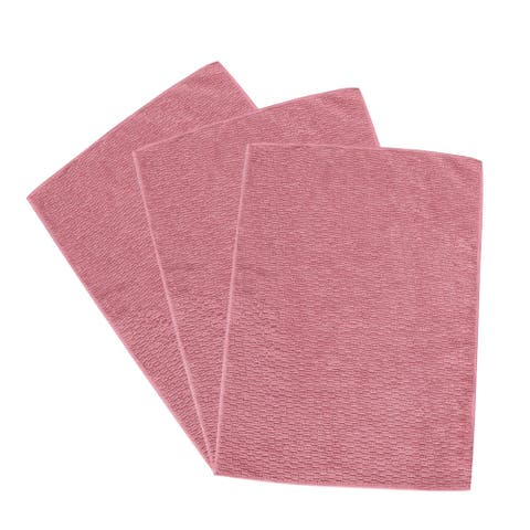 "Cleaning Cloth Towels 3pcs, 15.7"" x 11.8"" Highly Absorbent Dish Cloths Pink - 3pcs"