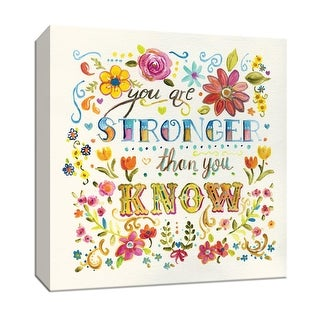 """PTM Images 9-147133  PTM Canvas Collection 12"""" x 12"""" - """"You Are Stronger Than You Know"""" Giclee Sayings & Quotes Art Print on"""