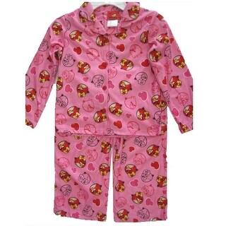 Angry Birds Girls White Pink Character Print 2 Pc Pajama Set 8-10
