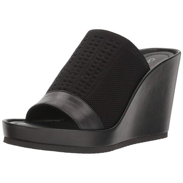 Calvin Klein Womens Hazel Open Toe Casual Platform Sandals