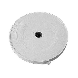 Unique Bargains Spool Reel White Elastic Knitting Tape Band for Clothes