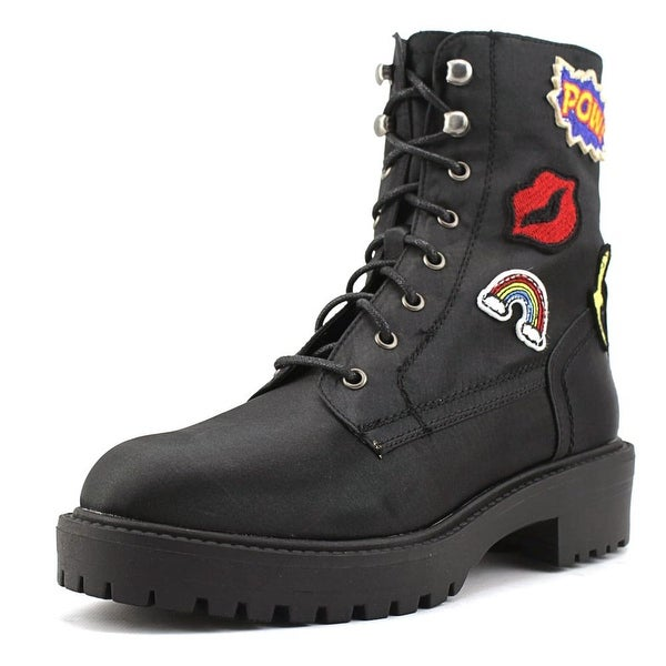 Coolway Drac Women Round Toe Synthetic Combat Boot