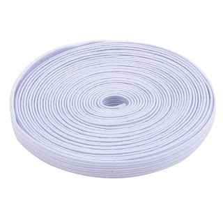 """0.3"""" Width Household Rubber Garment Elastic String Band Sewing Tool White 4.74yards"""