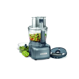 Cuisinart FP-13DGMFR Elemental 13-Cup Food Processor, Gunmetal, Certified Refurbished