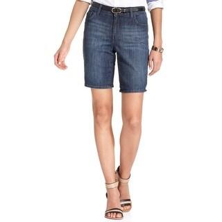 NEW Tommy Hilfiger Blue Denim Womens Size 2 Big Sur Bermuda Shorts