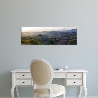 Easy Art Prints Panoramic Images's 'Valley at sunrise, Val d'Orcia, Tuscany, Italy' Premium Canvas Art