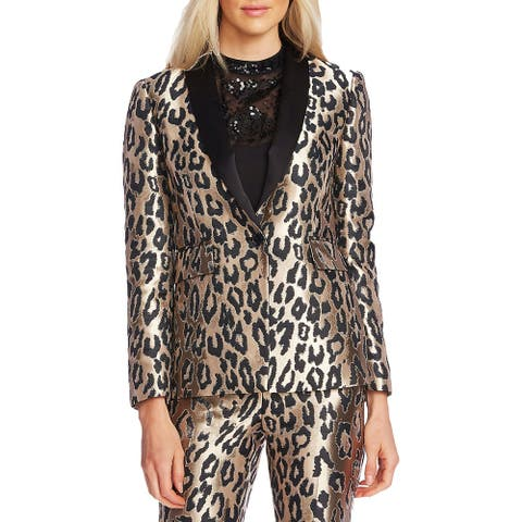 Vince Camuto Womens Blazer Animal Suit Separate - Rich Black