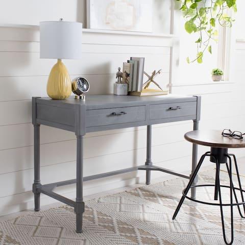 SAFAVIEH Filbert White Washed Grey Writing Desk
