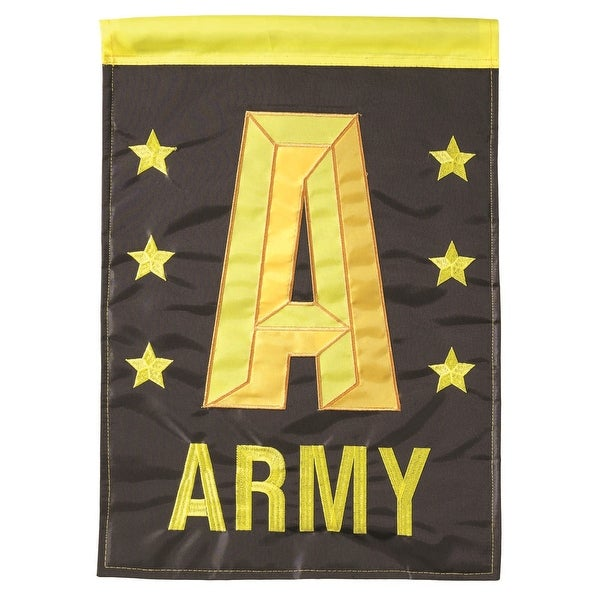 """Green and Yellow Armed Forces Army Garden Flag 13"""" x 18"""" - N/A"""